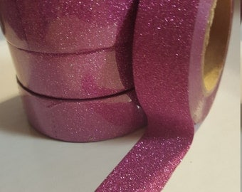 Hot Pink Glitter Washi Tape