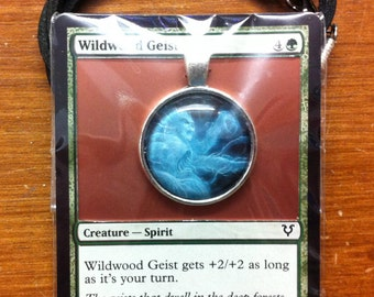 Wildwood Geist - MtG Necklace Made from Actual Card
