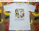 ANNUAL SALES 2016 Vintage 90s || ROY Lichtenstein Girl With Hair Ribbon t shirt || size S