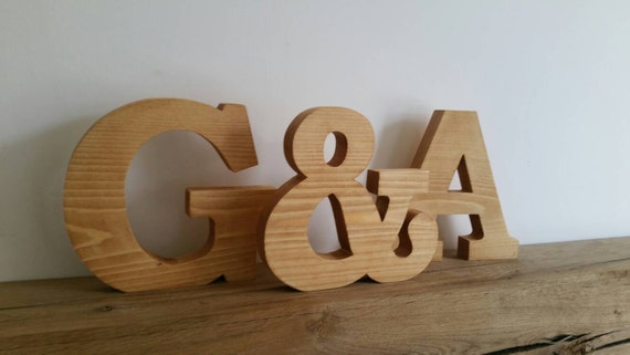 large wood letters large wooden letters solid wood free standing by lbwoodcraft 22696 | il 570xN.1008602597 pijv