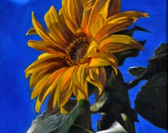 Sunflower-Colorful-Vibrant-Original-Oil-Painting