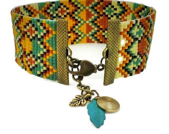 Indian Corn Loomed Bracelet