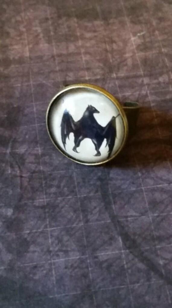 bat ring bat ring adjustable ring bat jewelry