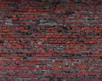 Dark Red Brick Backdrop