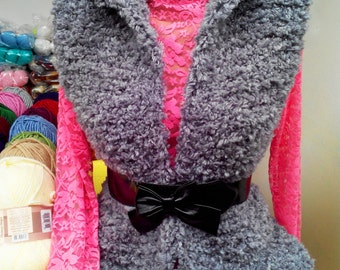 Warm knitted vest. Gift for her