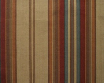 Duvet Cover Carlton Stripe Cardinal, Reversible