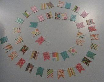 Girly Scrapbook Bunting/Banner
