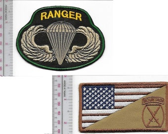 Ranger US Army 10th Mountain Division & Airborne Parachutist Wings
