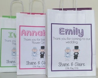 Personalised Wedding Gift Bag Bride & Groom