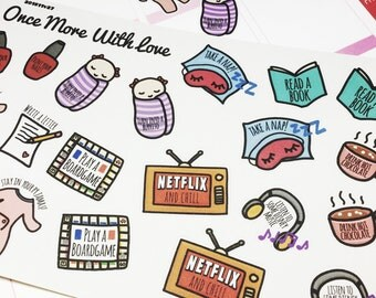 Things to Do on a Lazy Day Planner Stickers