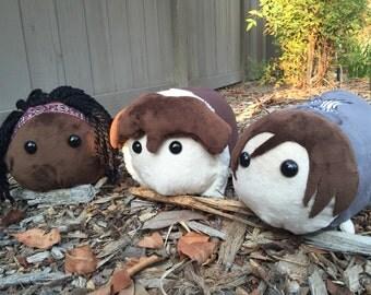 Michonne, Rick, & Daryl Plush