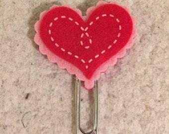 Heartfelt paperclip