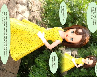 Doll Clothes PDF Pattern for Vintage 19'' Uneeda Dollikin Doll by NVME 19UD-3B