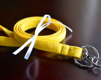 Custom Personalized Lanyard - Yellow, Six Font Choices - Perfect Athlete, Coach, Teacher Gift