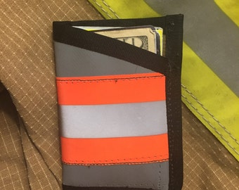 Grey Wallet from Firefighter Turnout Gear