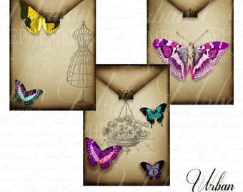 Butterfly Journaling envelopes