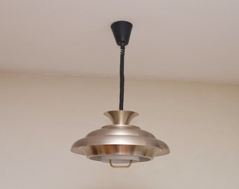 Midcentury pull down lamp from the 70s made by Dijkstra Holland