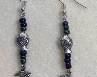 Fish and bead earrings!