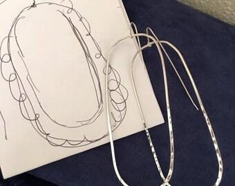 """Hoop Earrings """"Z's Hoops"""" Sterling Silver Large 3"""""""