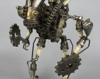 Scrap Metal Sculpture Model Recycled Handmade Art Robot 2