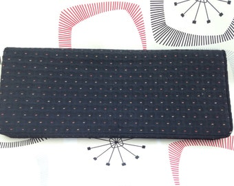 Black RFC Evening Clutch Bag 1950's - 1960's Made in England .