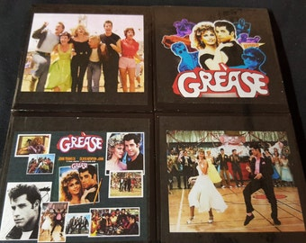 Grease Ceramic Tile Drink Coaster Set