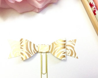 Planner Paper clips in Adorable Rose Cream and Gold Planner Accessories,Planner Paperclips collection