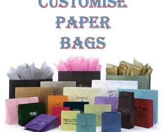 250 Custom Printed Retail Carrier Bags