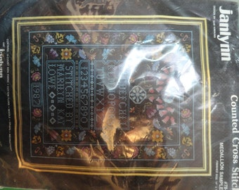 Janlynn Counted Cross Stitch Medallion Sampler