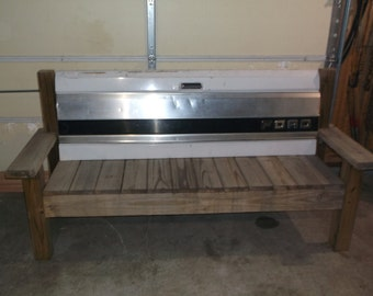 Ford Truck Tailgate bench First on Race Day Ford Pickup Pick Up Farm Truck Bench Garage