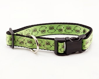 "Grinch Dog Collar (3/4"" width) - Small - Medium"