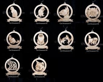 Cat Ornament-Cat Gift-Free Personalization-Kitten Ornament