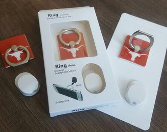 Texas longhorn Iphone Ring/stand