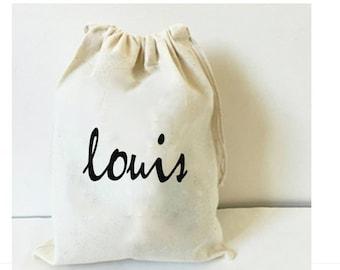 Personalised bag, drawstring bag, custom bag, cotton bag, birthday bag, groomsman bag, kids bag, birthday favor, bridesmaid bag, baptism