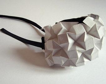 White Origami bangle