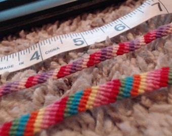 2 Colorful Handwoven Friendship Bracelets