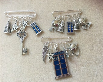 Dr Who theme brooch pins