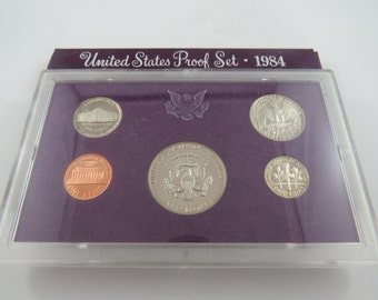 U.S. 1984S United States Proof Set.There is no C.O.A. in this set. This is a 5 coin Proof set.