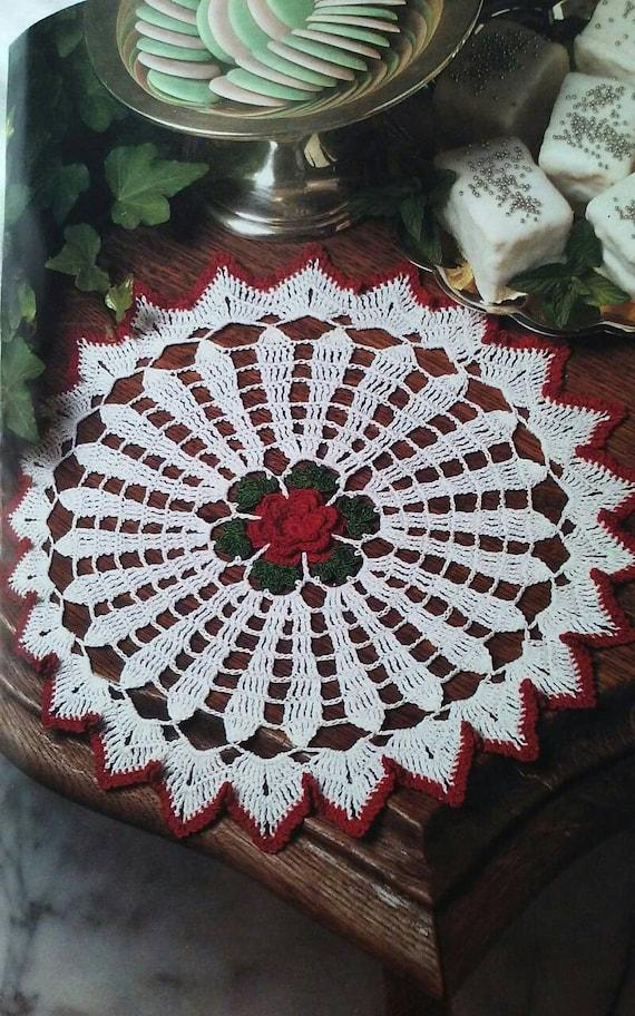 Pdf download A  Vintage Christmas crochet doily pattern, vintage crochet doily pattern Christmas doily pattern,crochet doily pattern, doily