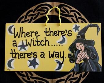 """Door sign """"Witch"""""""