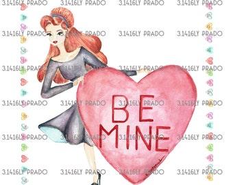 Tiny Girl Be Mine illustration