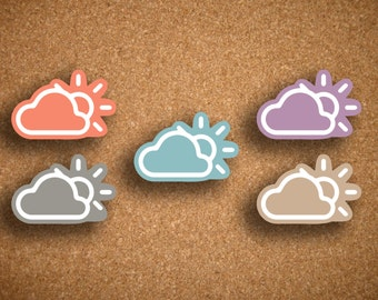 Partly Sunny Weather Planner Stickers for Inkwell Press Planner IWP-DCPC1