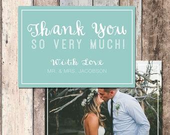 Wedding Thank You Card-Thank You Card-Wedding-Bride and Groom-DIY Wedding-Printable-Photo-PIY-