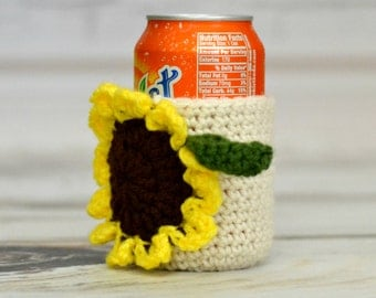 Sunflower Can Cozy
