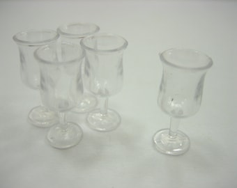 5 Acrylic Ice Cream Cup Dollhouse Miniatures Accessories Beverage Supply 12502