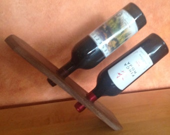 gifts for him,wine holder, floating wine rack
