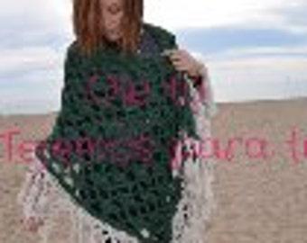Very warm green shawl