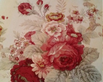 Pretty Waverly Norfolk Rose/floral curtain panel-shabby/boho/cottage chic/French country curtain