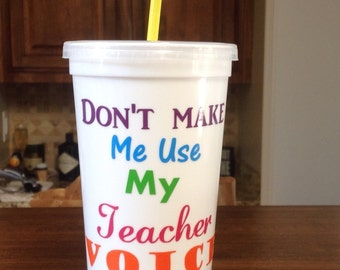 Teacher's Tumbler-Plastic