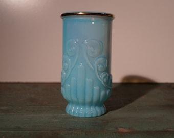Avon Blue Opalescent Tumbler/Vase